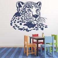 Leopard Head Wall Sticker Animal Art Wall Sticker