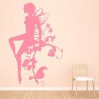Flower Fairy Wall Sticker Fantasy Wall Decal Girls Bedroom ...