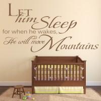 Let Him Sleep Wall Sticker Boy's Bedroom Wall Art
