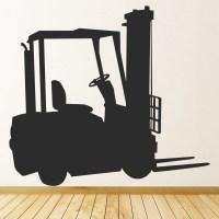 Fork Lift Truck Wall Sticker Vehicle Wall Art