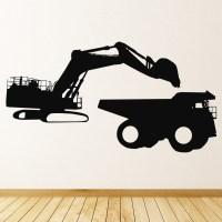 Digger Loading Wall Sticker Vehicle Wall Art