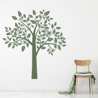 Leafy Tree Wall Sticker Birch Tree Wall Decal Kids Nursery ...
