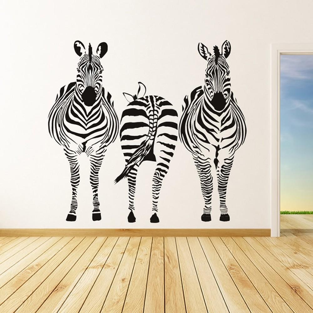 Baby Girl Nursery Wallpaper Uk Group Zebra Wall Sticker Safari Animals Wall Decal Kitchen