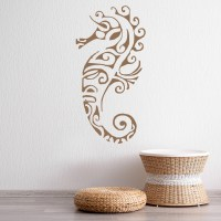 Tribal Seahorse Wall Sticker Under The Sea Wall Decal ...