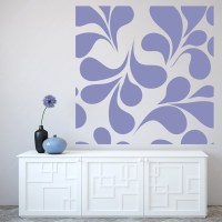 Square Leaf Print Wall Sticker Decorative Wall Art