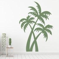 Palm Trees Wall Sticker Tropical Trees Wall Decal Bathroom ...