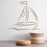 Sail Boat Wall Sticker Boat Wall Art