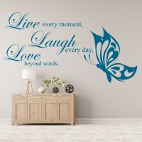 Live Laugh Love Family Quote Wall Sticker