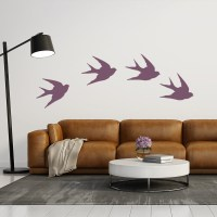 Swallow Silhouette Wall Sticker Creative Multi Pack Wall ...