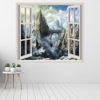 Fantasy Castle Wall Sticker Window Wall Decal