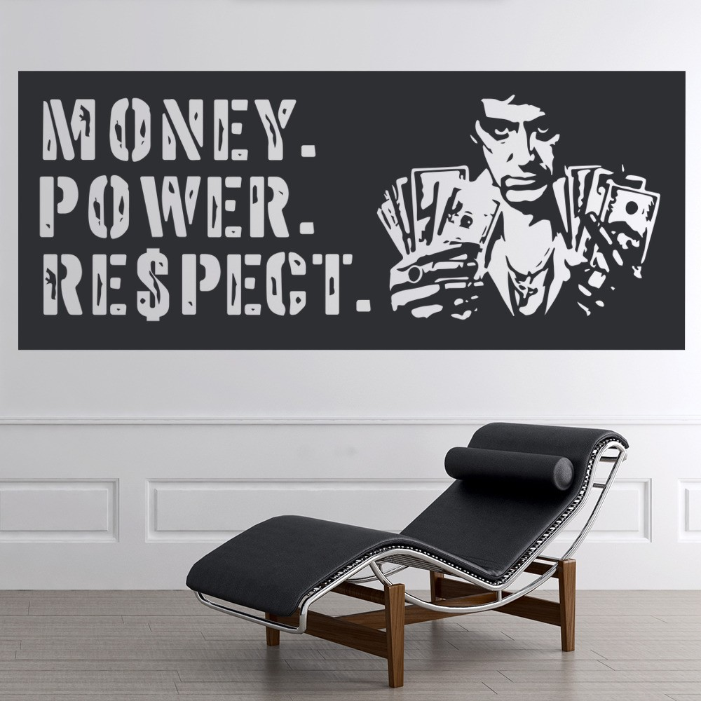 Money power respect scarface crime thriller tv movie wall stickers home decals