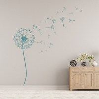 Dandelion Wall Sticker Floral Flower Wall Decal Nursery ...
