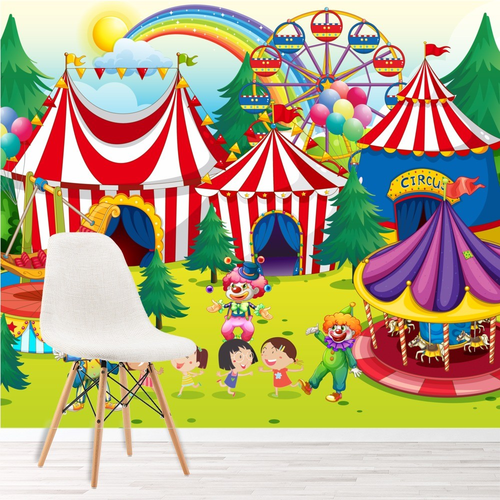 Baby Girl Nursery Wallpaper Uk Circus Wall Mural Fairground Photo Wallpaper Kids Bedroom