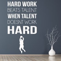 Hard Work Sports Inspirational Quotes Wall Sticker Home ...