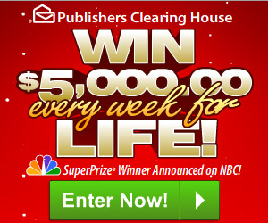 WIN 00 a WEEK for LIFE from Publisher's Clearing House! « I Crave