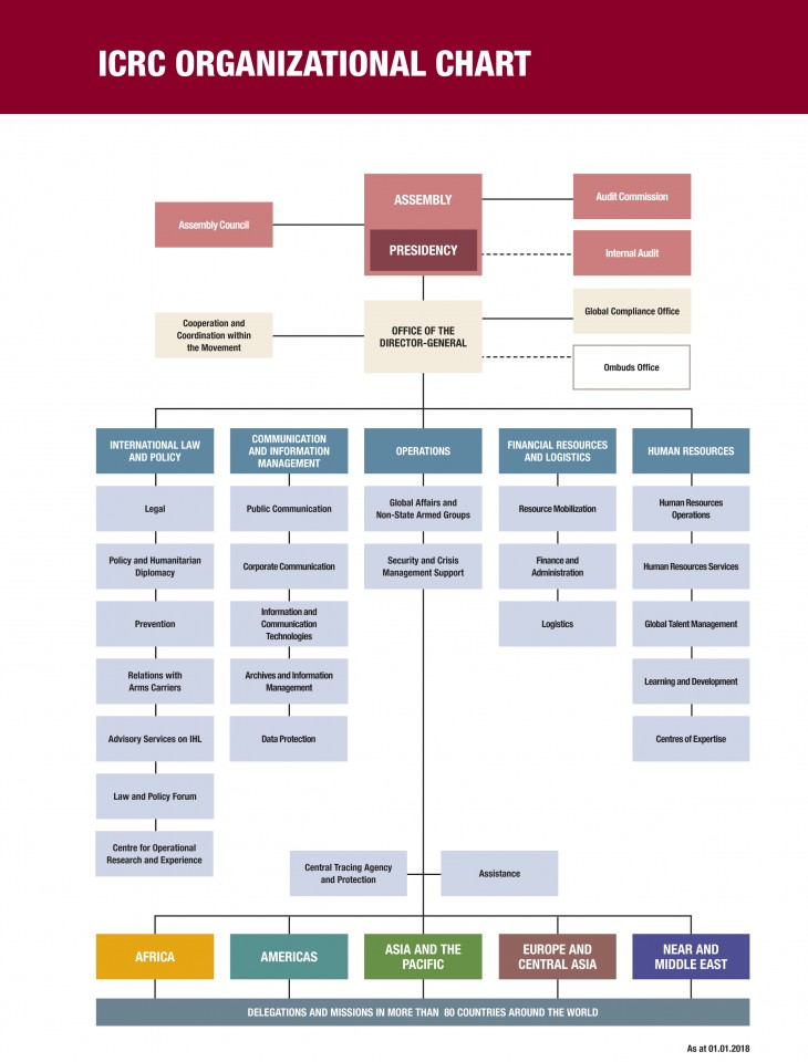 ICRC organizational chart International Committee of the Red Cross