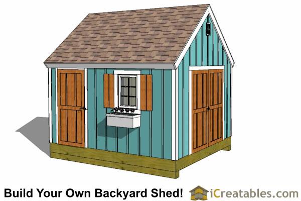 Shed Designs - Storage, Lean To, \ Garden Shed Plans - garden shed design