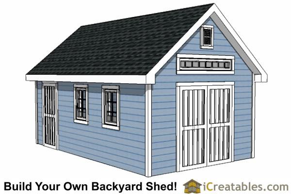 Garden Shed Plans - Backyard Shed Designs - Building a Shed - garden shed design