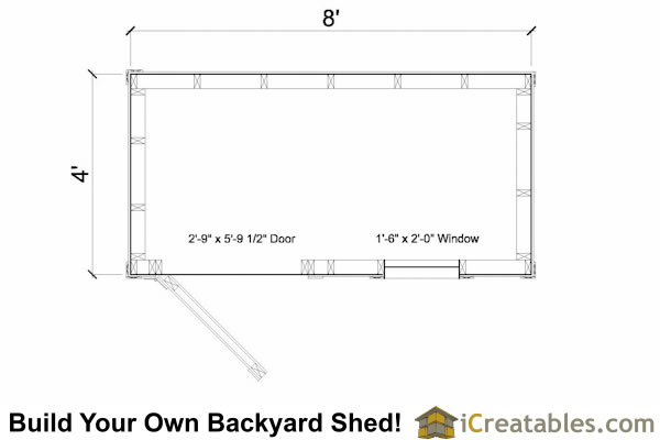 4x8 Lean To Shed With Window Plans Outdoor Sheds Plans