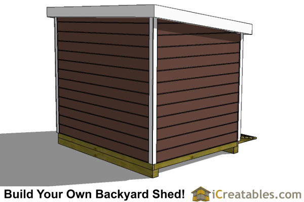 8x10 Lean To Shed Plans Storage Shed Plans Icreatablescom
