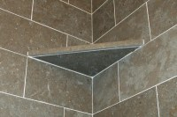 Shower Corner Shelf-Install a Tile Soap Dish | icreatables.com