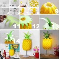 DIY Plastic Spoon Pineapple Lampshade