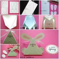 DIY Cute Paper Bunny Gift Box