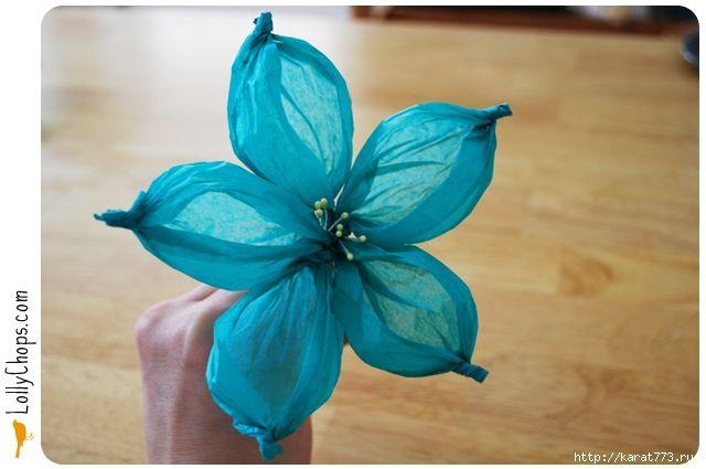 Diy Beautiful Tissue Paper Flower Using A Golf Ball