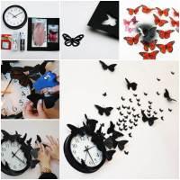 Creative Ideas - DIY Butterfly Clock Wall Art