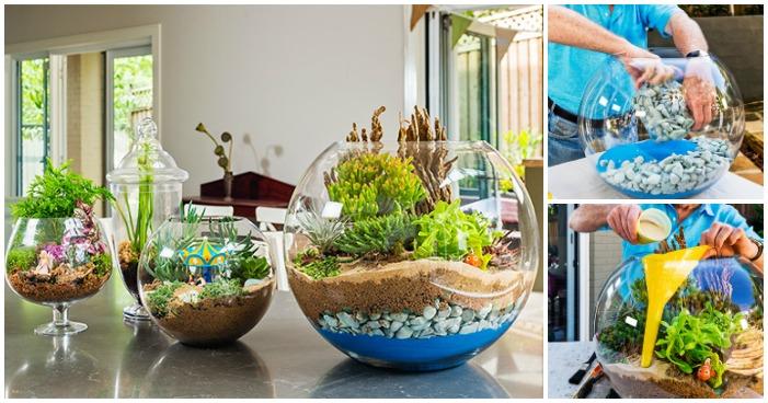 Minimal Garden Ideas Creative Ideas - How To Make A Terrarium - i Creative Ideas
