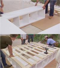 Creative Ideas - How to Build a Platform Bed with Storage ...
