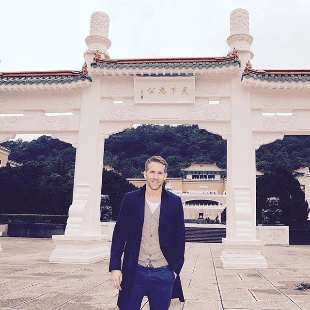 Ryan Reynolds Deadpool Marvel movie actor National Palace Museum