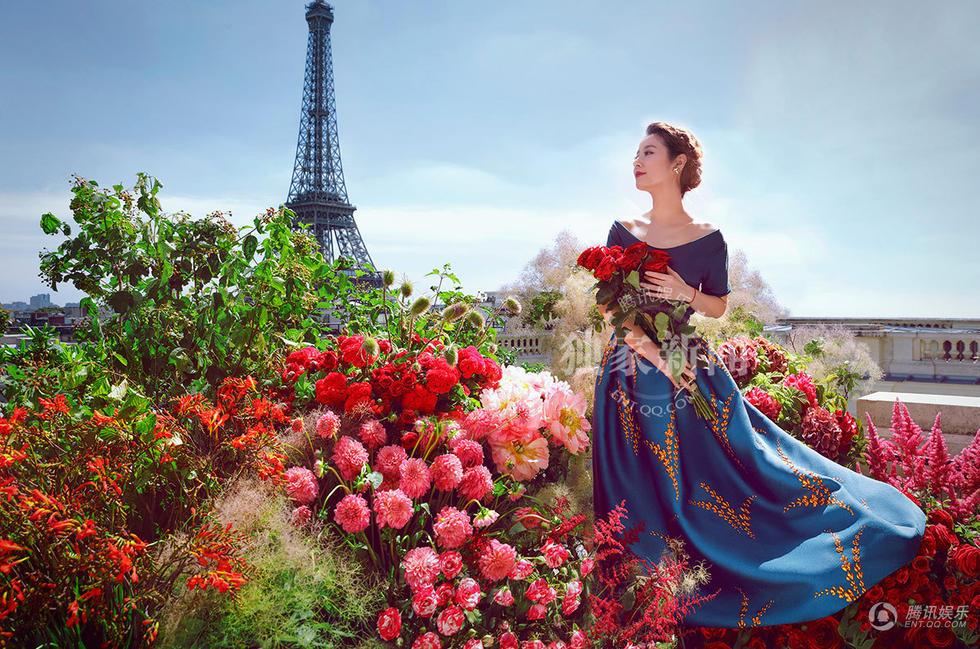 Ruby Lin 林心如 Wallace Huo 霍建華 wedding Paris