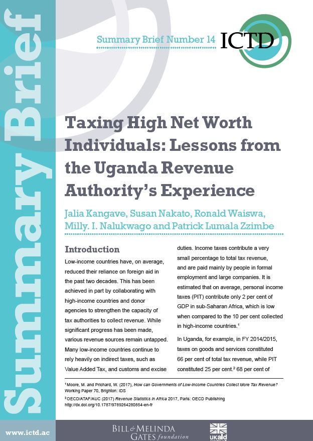 Taxing High Net Worth Individuals Lessons from the Uganda Revenue - example of net worth
