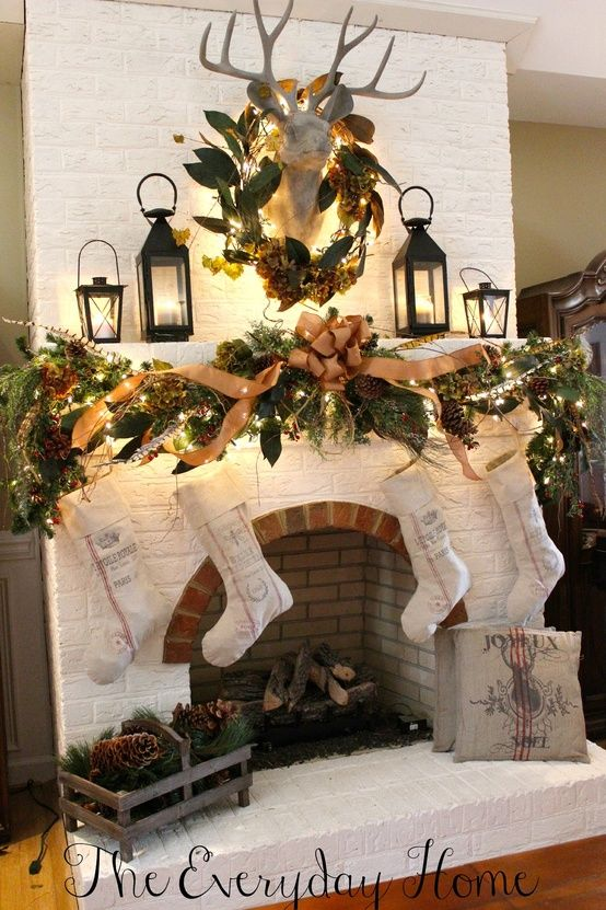 Decorate your fireplace for Christmas! 20 ideas to inspire - christmas fireplace decor