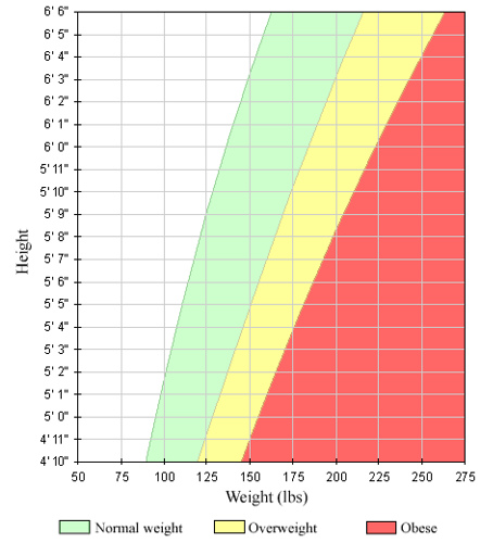 BMI Chart for Men and Women