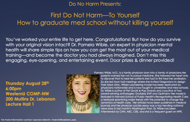 How To Graduate Medical School Without Killing Yourself Pamela Wible Md