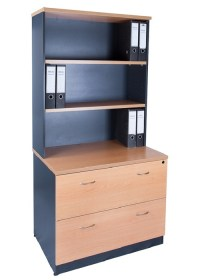 Express Lateral Filing Cabinet With Hutch - Ideal Furniture