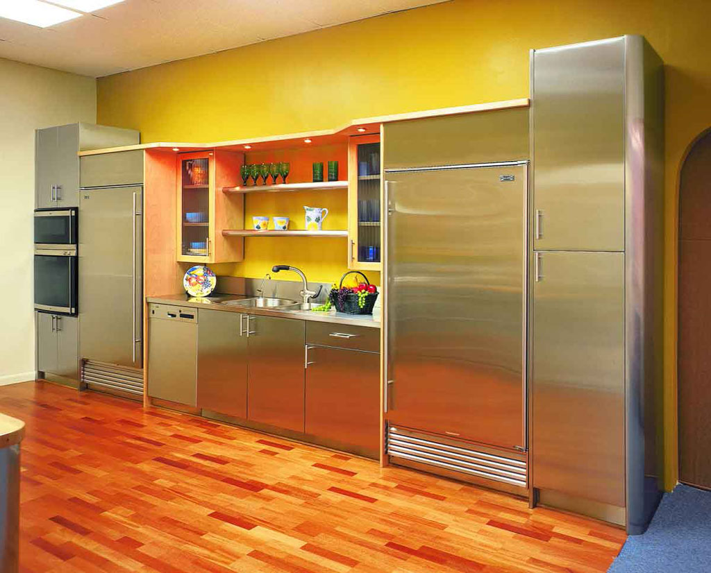 Cheerful Bright Kitchen Color Ideas For Sleek Interior