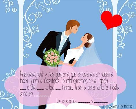 Invitaciones de boda gratis \u2013 Ideas para fiestas