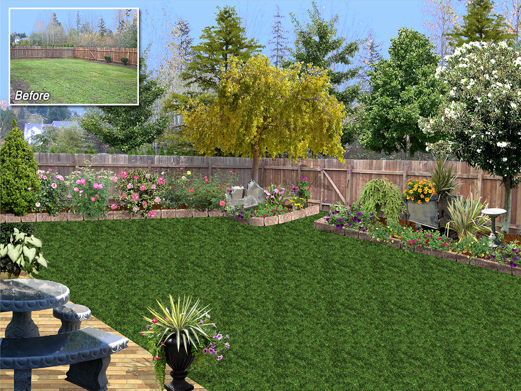 Salient A Bilevel Landscaping Backyard Backyard Design Over Photo Landscaping Software Gallery Landscaping Backyard Teens outdoor Landscaping The Back Yard