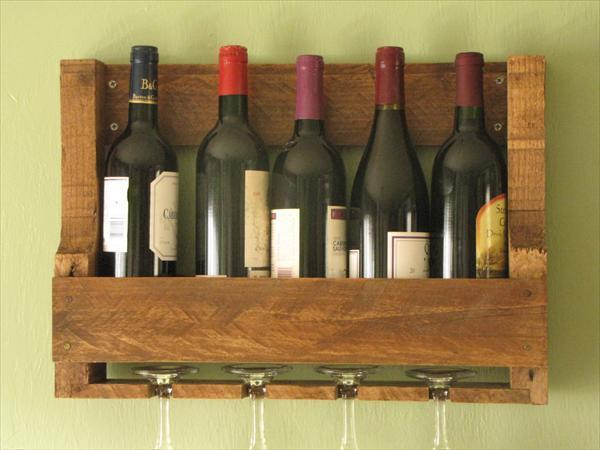 Amazing Diy Reprocessed Pallet Wine Racks Ideas With Pallets