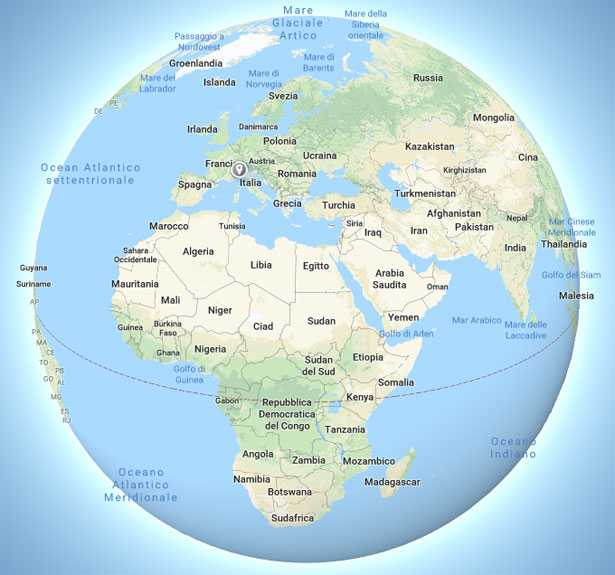 cartina mappamondo