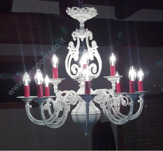 Rivisitare un vecchio lampadario di ottone in stile shabby for Lampadario stile shabby