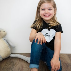 "Girls' Amié ""Loved"" Christian Graphic Tee"