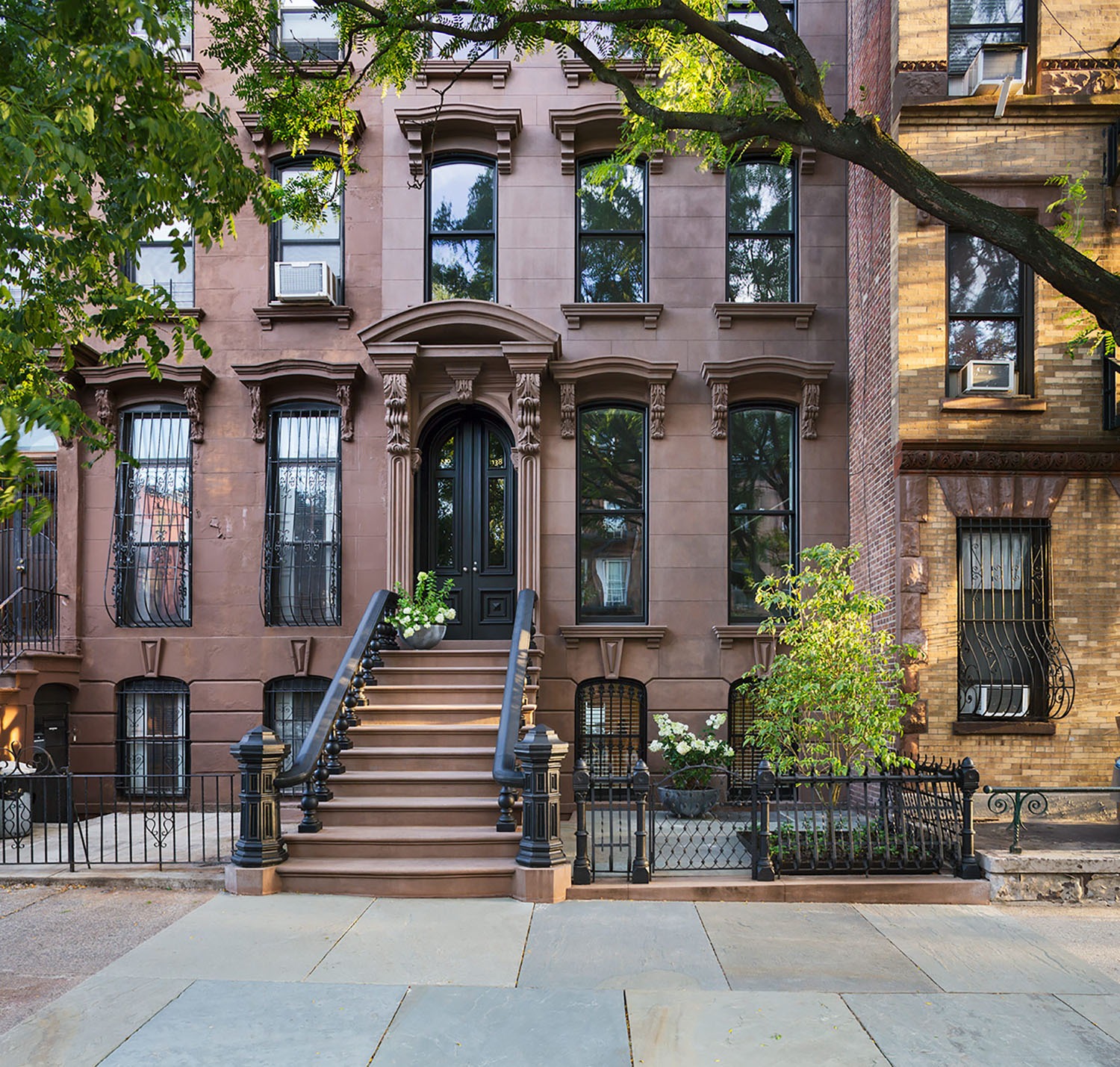 Prospect heights luxury brownstone exterior