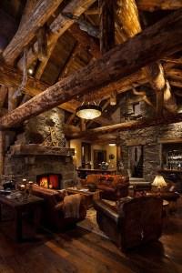 Old West Inspired Luxury Rustic Log Cabin In Big Sky ...