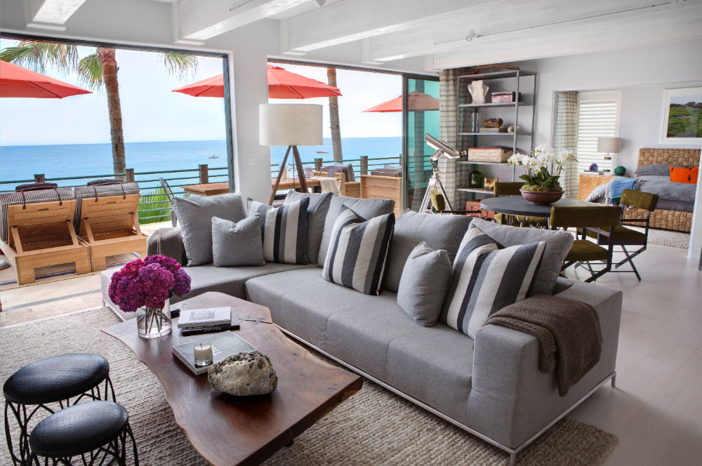 Malibu Beach House With Colorful Coastal Interior Decor - coastal home decor