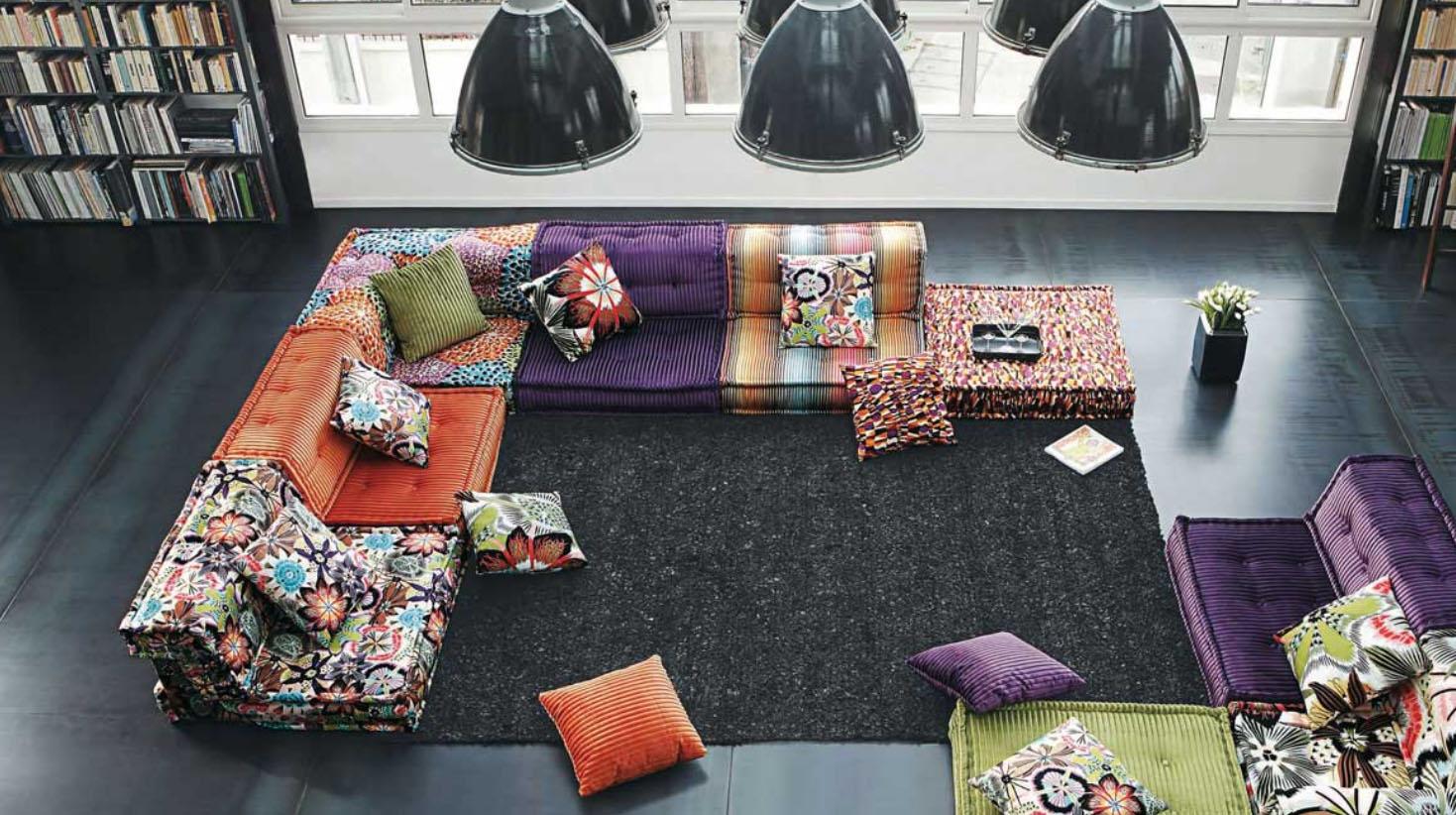 Roche bobois stylish and functional mah jong modular sofas designed