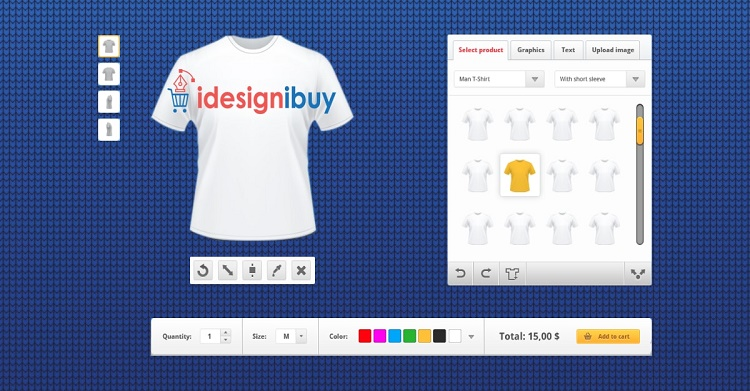 T-shirt Design Tool - An Online Product Customization Software To